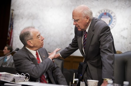 Grassley, left, and Leahy, right, lead the Judiciary Committee. (Tom Williams/CQ Roll Call File Photo)