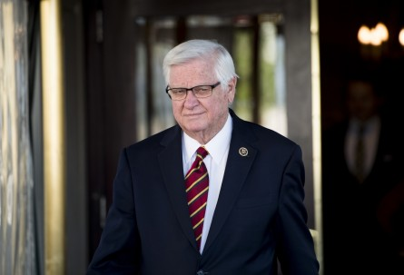 UNITED STATES - APRIL 22: Rep. Harold Rogers, R-Ky., leaves the House Republican Conference meeting at the Capitol Hill Club on Wednesday, April 22, 2015. (Photo By Bill Clark/CQ Roll Call)