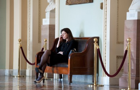 The CQ Vote Studies give detail on how Ayotte has been backing Obama this year. (CQ Roll Call File Photo)