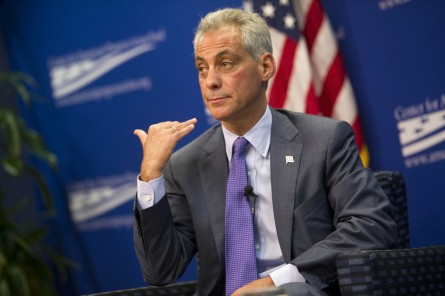 Emanuel is looking to win a second term in Chicago. (CQ Roll Call File Photo)