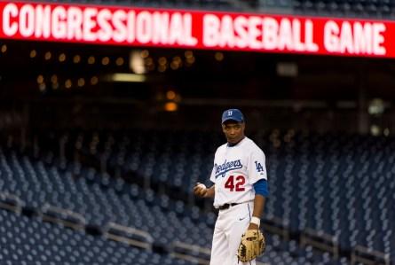 Richmond at the 2013 Roll Call Congressional Baseball Game. (Bill Clark/CQ Roll Call File Photo)
