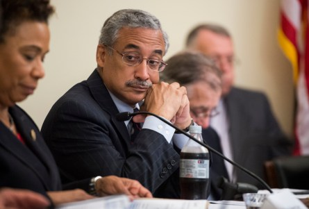 UNITED STATES - OCTOBER 2: Rep. Bobby Scott, D-Va., listens during the House Democratic Steering and Policy Committee hearing on