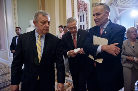 Schumer and Durbin are moving out. (Douglas Graham/CQ Roll Call File Photo)