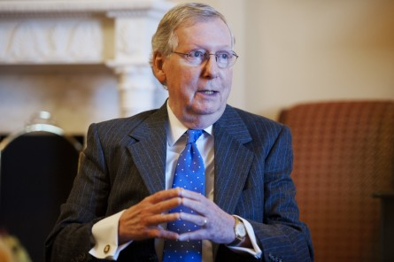McConnell says there won't be any shutdowns. (Tom Williams/CQ Roll Call File Photo)