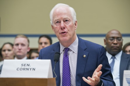 Cornyn testifies Tuesday on criminal justice at the House Oversight and Government Reform Committee.