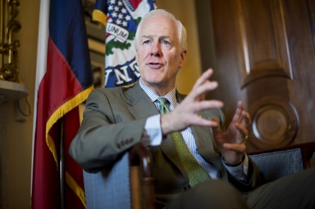 Senate Majority Whip John Cornyn, R-Texas, is taking the reins on a Republican response to mass shootings. (Photo by Tom Williams/CQ Roll Call File Photo)