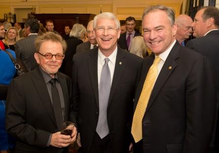 Right to left: Paul Williams, ASCAP president; Sen. Roger Wicker, R-Miss.; and Sen. Tim Kaine, D-Va.