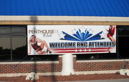 Penthouse Club ad for GOP conventioneers