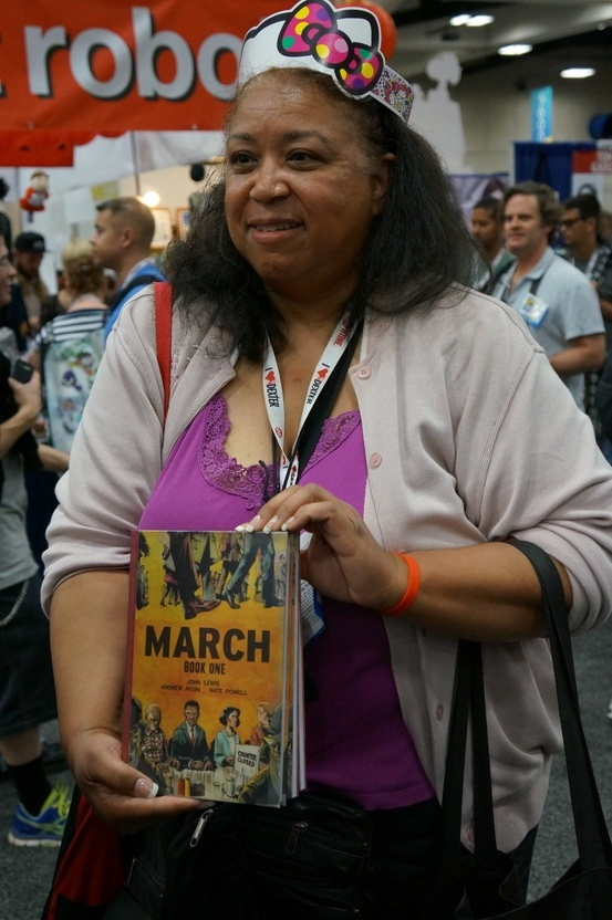 John Lewis Receives a Hero's Welcome at Comic Con
