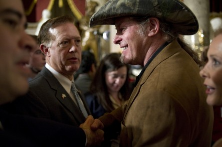 Rocker Nugent, right, was Stockman's guest at the State of the Union this year. How do you top that? Find out Tuesday. (Chris Maddaloni/CQ Roll Call File Photo.)