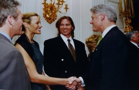 Val Kilmer meeting President Bill Clinton