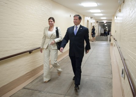 Former Reps. Mary Bono Mack and Connie Mack served together in Congress as a married couple. (Bill Clark/CQ Roll Call file photo.)