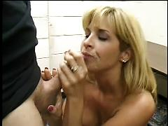 Beautiful Blonde Girl Sucks Dick And Gets Cum In Her Mouth Blondes blowjobs facials