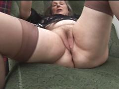 Horny Chunky Granny Enjoys Masturbating And Cumming Granny masturbating old farts