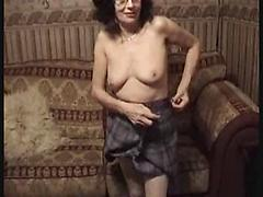 Sexy Granny Rubbing Her Wet Pussy After Stripping Her Outfit Granny masturbating stockings