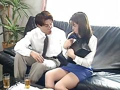 Cute Asian School Girl Gets Dicked By A Man Asian licking stockings