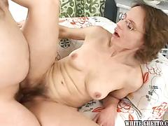Splendid and insatiable milf pulverize with her spouse at home ! Brunette gonzo hairy