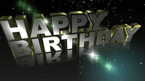 happy birthday animated text