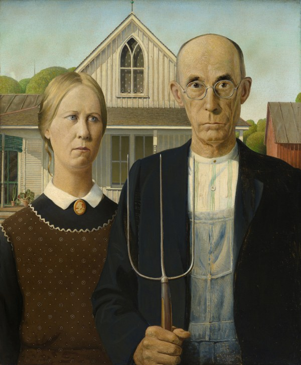 """Spring Classic Painting """"american Gothic"""""""