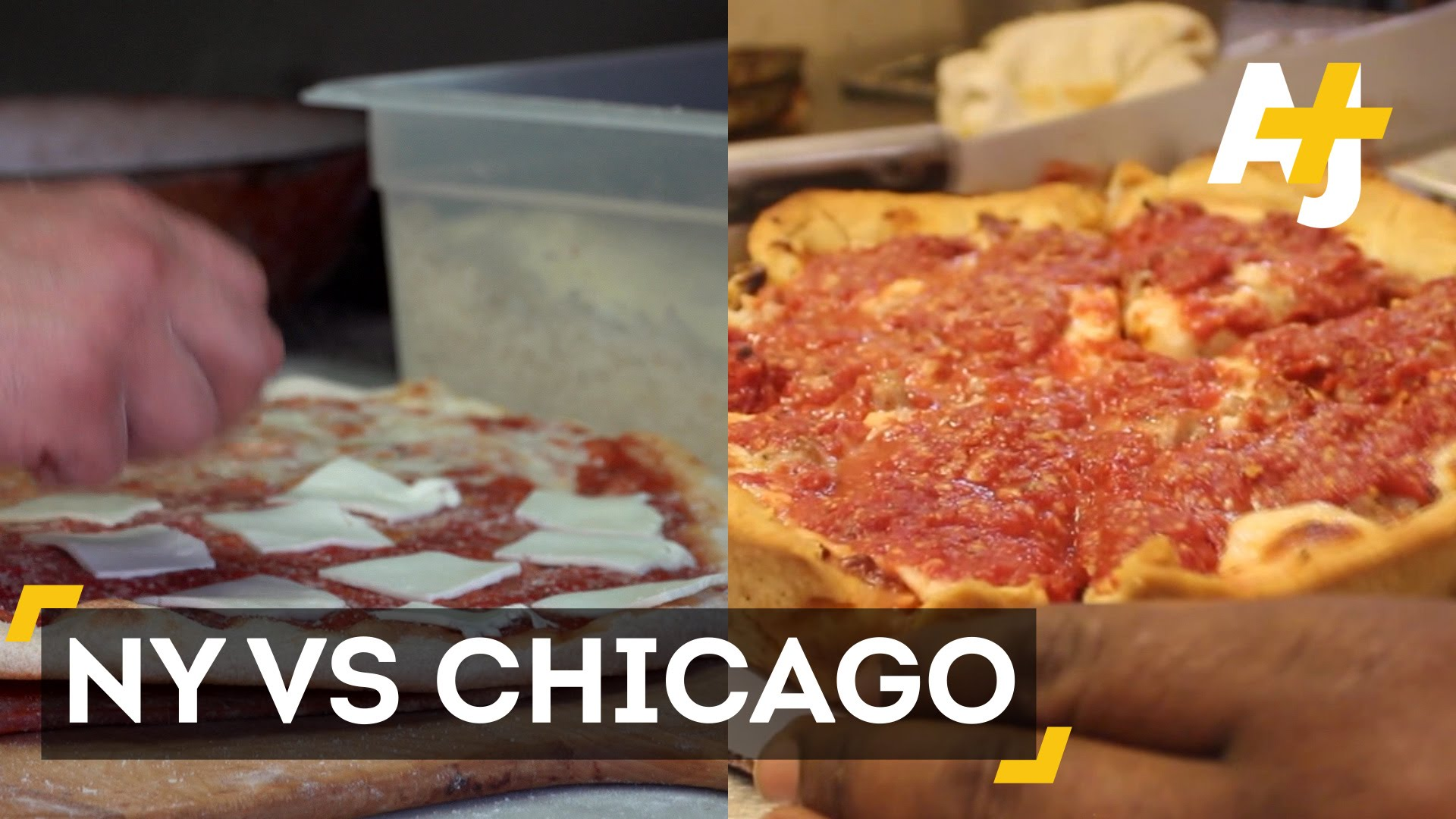 Pizza Slice Battle New York City Style Vs Chicago Style