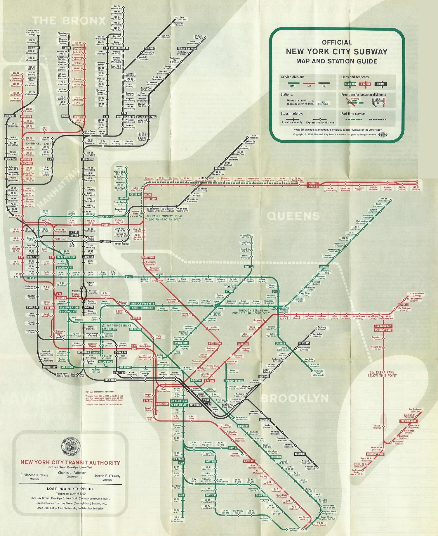 new york city subway diagram 2005 f150 4x4 wiring check out this vintage map from 1958 viewing nyc official and station guide