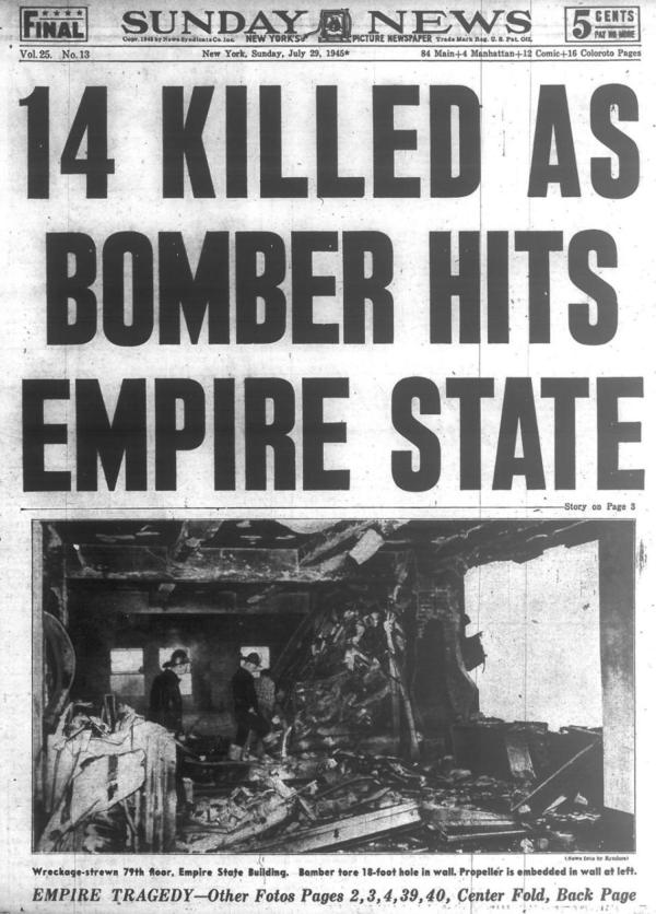 25 Bomber Crashed Empire State Building In 1945 Viewing Nyc