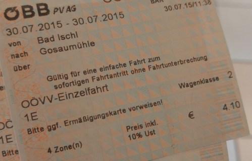 Bad Ischl -> Hallstatt (但目的地唔係咁寫...)