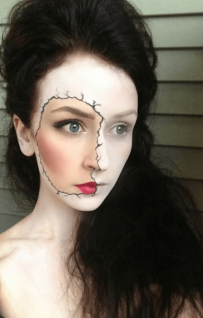 A slowly dying woman is another make-up trick that you could try.