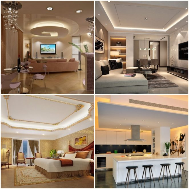 Ideas of suspended drop ceiling decor for your home  Virily
