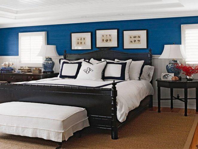 Dark Blue Walls Ideas In The Bedroom Virily