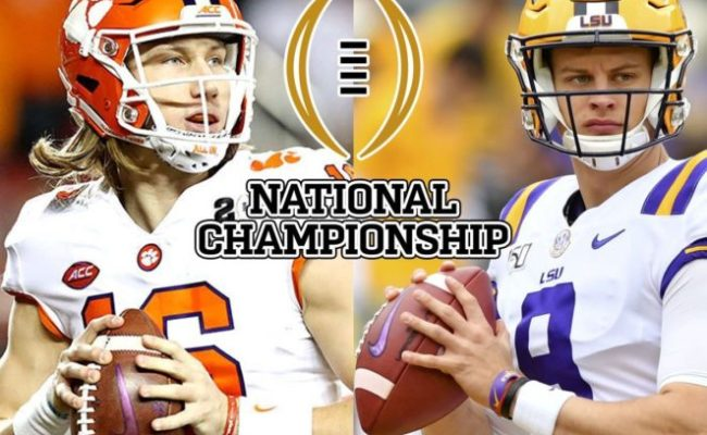 College Football National Championship 2020 Clemson Vs