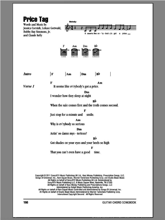 Price Tag. Jessie J. Chords. GuitarPlayerBox