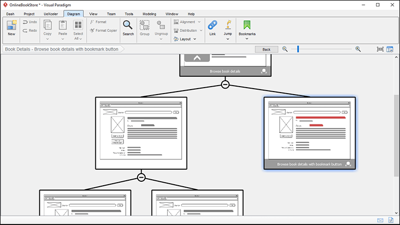 how to create wireframe diagram