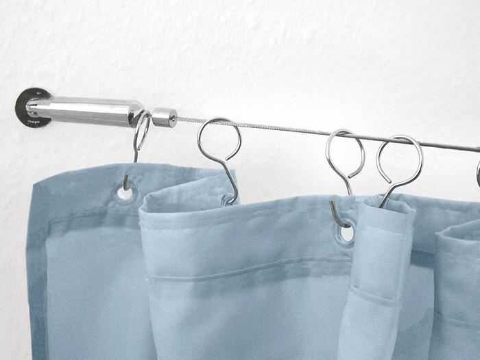extra long shower rods bridging