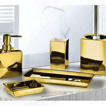Elegant Silver or Gold Bathroom Accessories  Luxurious