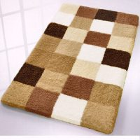 Caro : Checker Pattern Rich Multi Color Plush Bathroom Rug