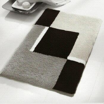 Contemporary Black and White Bath Rugs Vita Futura