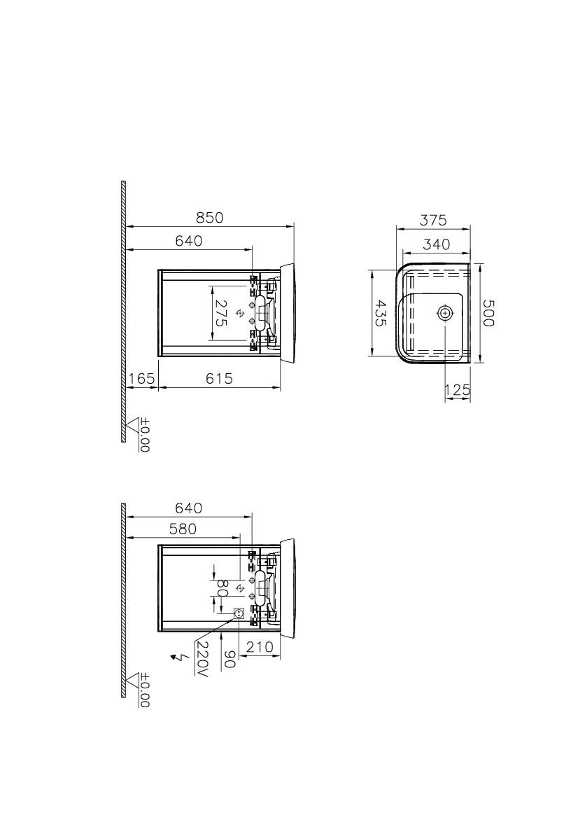 Sento Washbasin Unit, with doors, 50 cm, Matte Anthracite