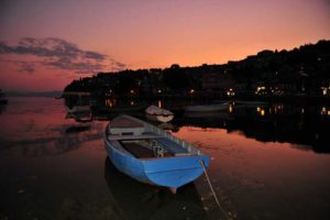 Ohrid at night.