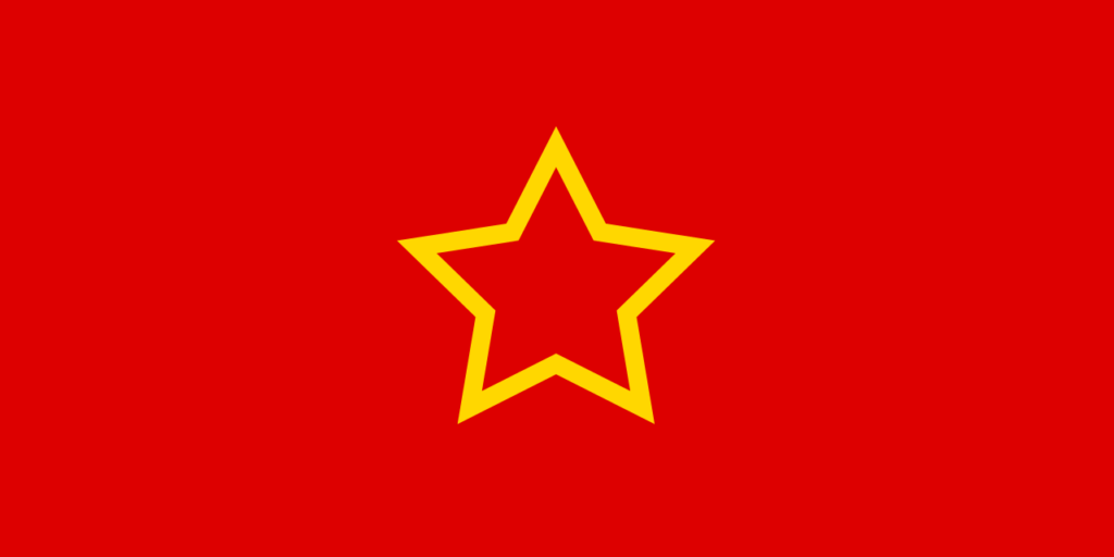 The flag of the People's Republic of Macedonia 1944-1946