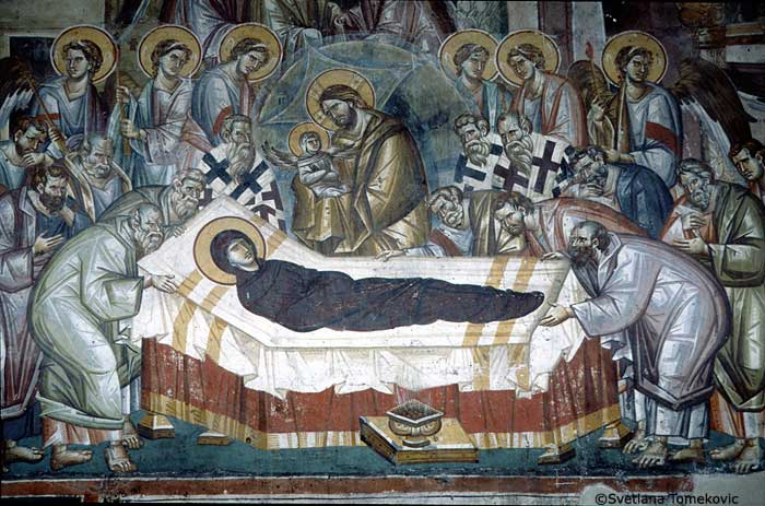Lamentation of Mary, St. Mary Perivleptos, 13th century