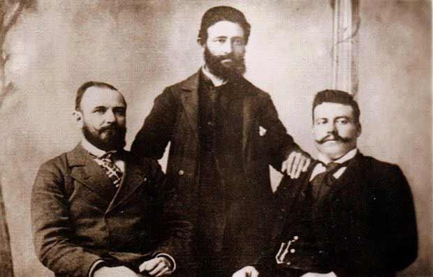 Gjorche Petrov, Nikola Maleshevski and Goce Delcev.