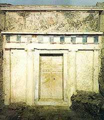 The royal tomb excavated in 1977 at Vergina, near Salonika