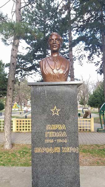 Mirka Ginova Statue in Bitola, Macedonia