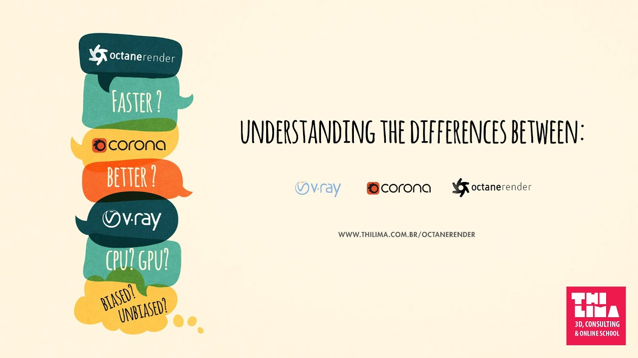 Vray x Corona x Octane Render 算圖引擎 比較 (Understanding the differences between: Vray x Corona x Octane Render (ENGLISH SUBS ...
