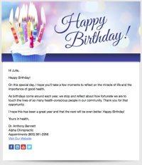 Patient Birthday Emails | Perfect Patients chiropractic ...