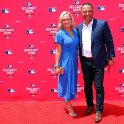 Dave Roberts and wife Tricia at the MLB Red Carpet Show.