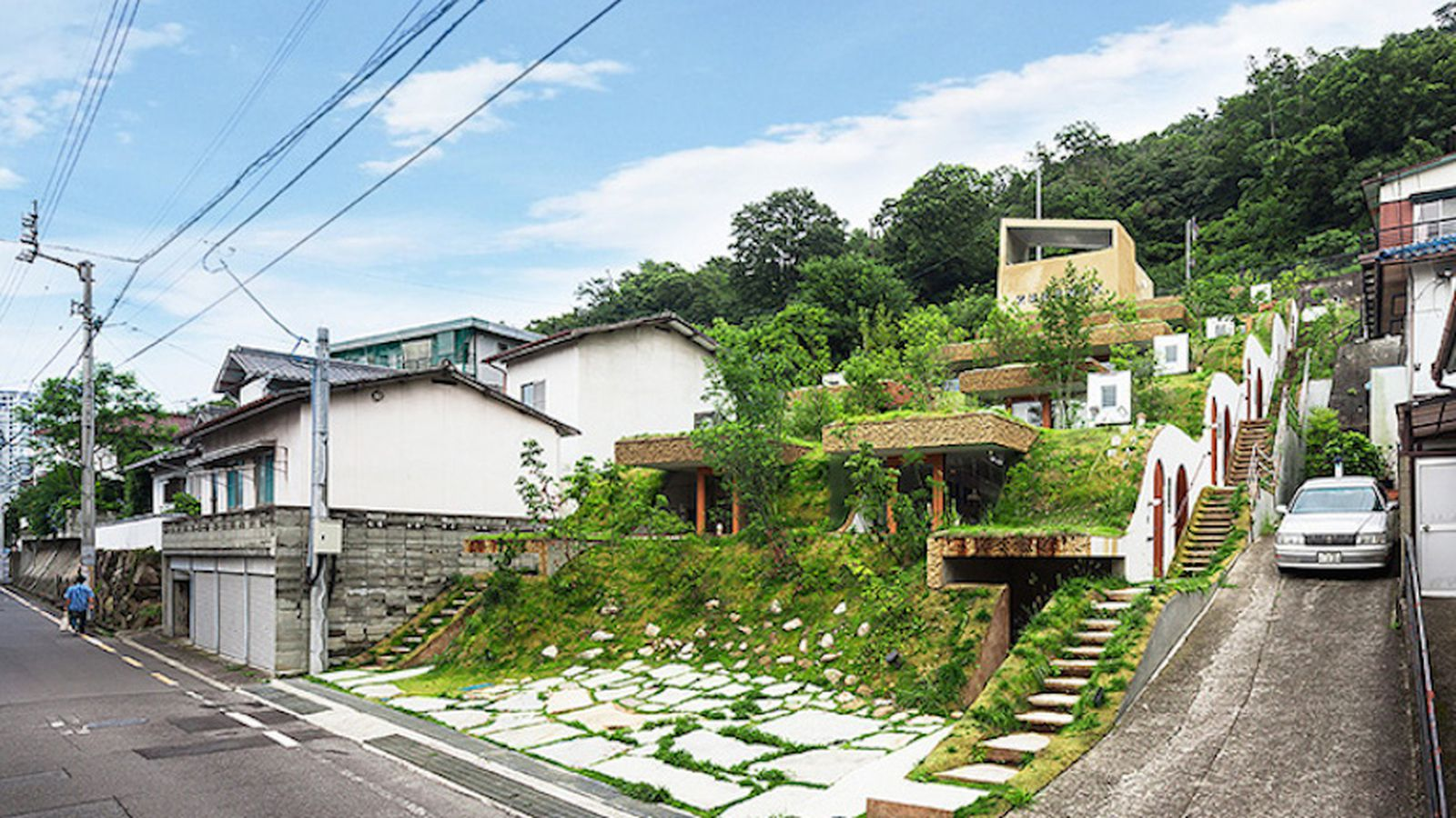 A Hobbitstyle apartment building rises in Japan  Curbed
