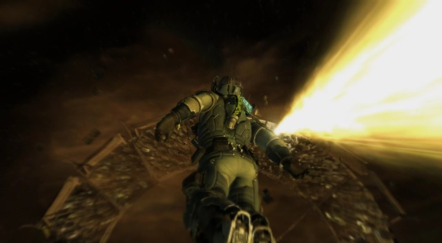 During the HALO jump sequence in Dead Space 2, Isaac rockets through space