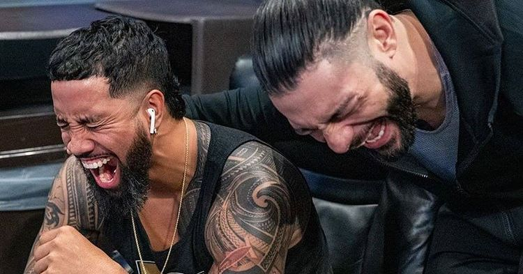 Roman Reigns had the same reaction you did to Randy Orton's mask look